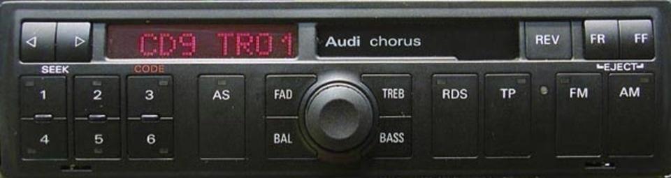 как подобрать код к магнитоле audi a4