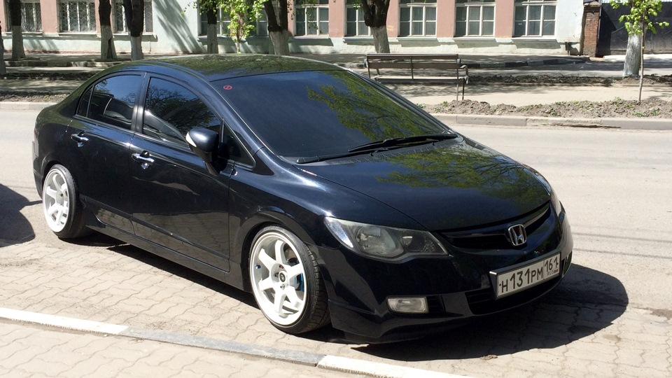 развал задней оси honda civic 4d 8