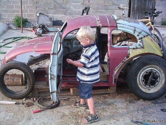 Маленькая машина своими руками фото