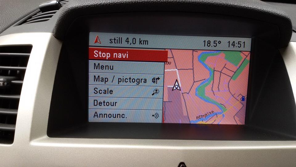 русифицировать штатную навигацию сд70 на опель