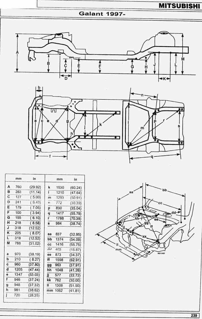 Мицубиси лансер ремонтные размеры фотоотчет серия постов