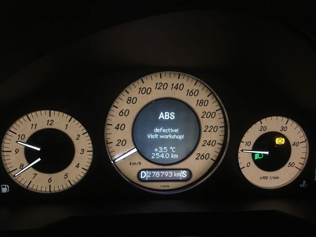 Ничего не предвещало о беде  ESP/ABS malfunction! — Mercedes-Benz E