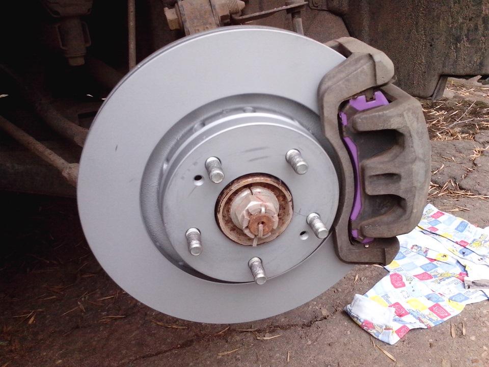 Замена передних тормозных колодок аутлендер своими руками