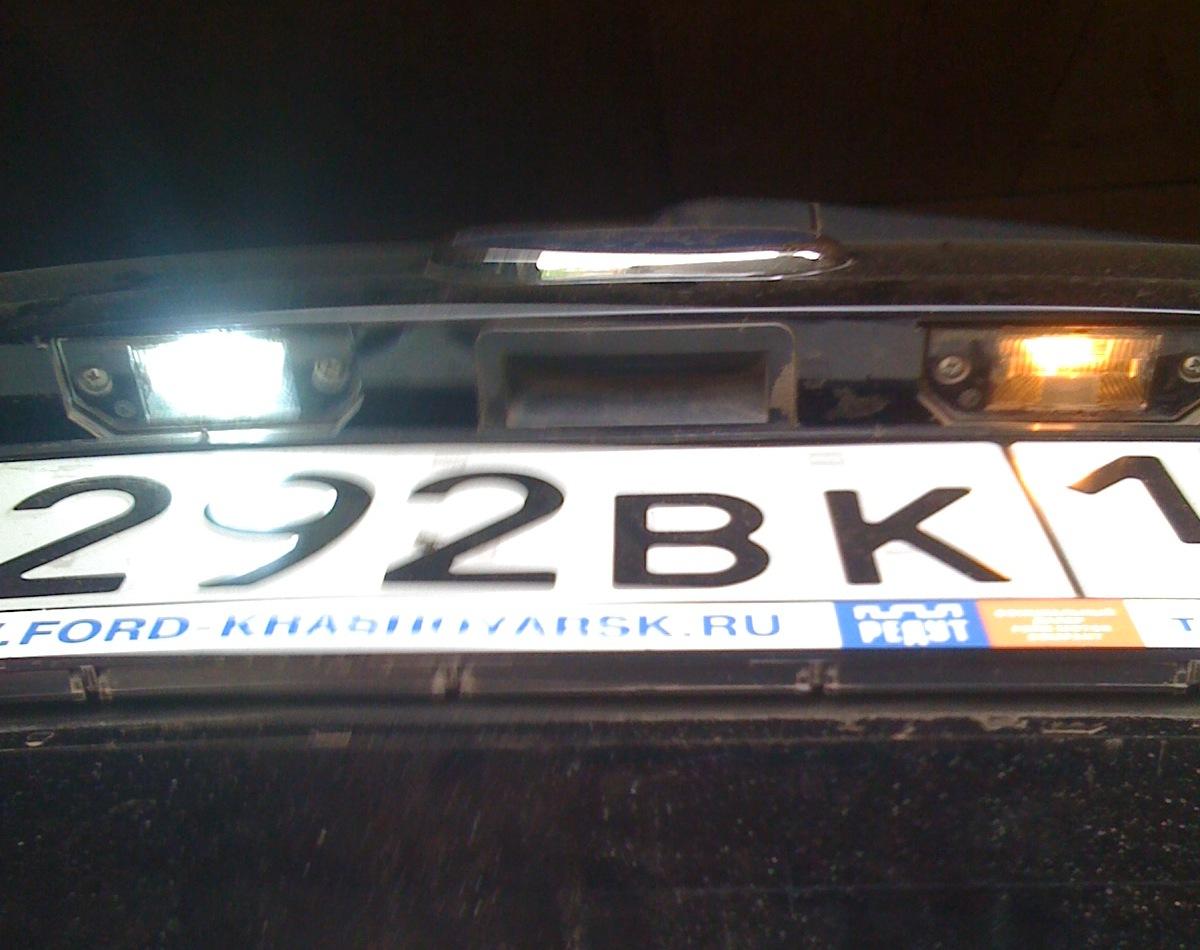 Форд фокус 2 какая лампа подсветки номера 2 фотография