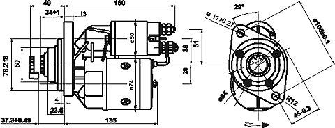 установка стартера Magneton(Чехия) модели 9141430 для ВАЗ-2110 на ОКУ ВАЗ-1111 Доработка стартера МАгнетон (чехия...