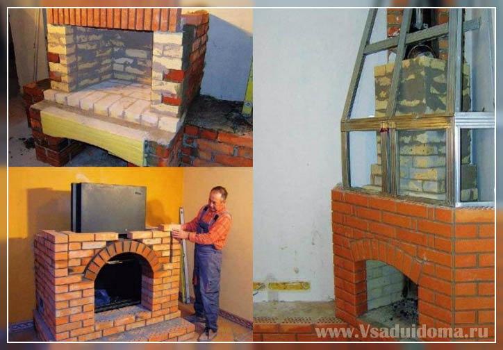 Как строить камин своими руками