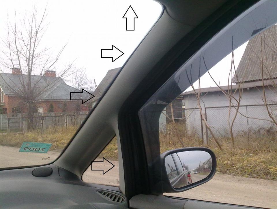 потеет лобовое стекло ford galaxy