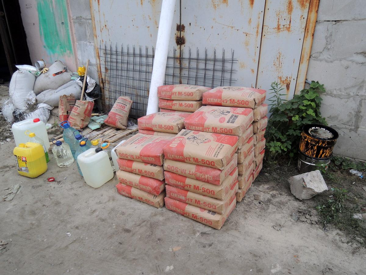 хранение цемента в мешках зимой