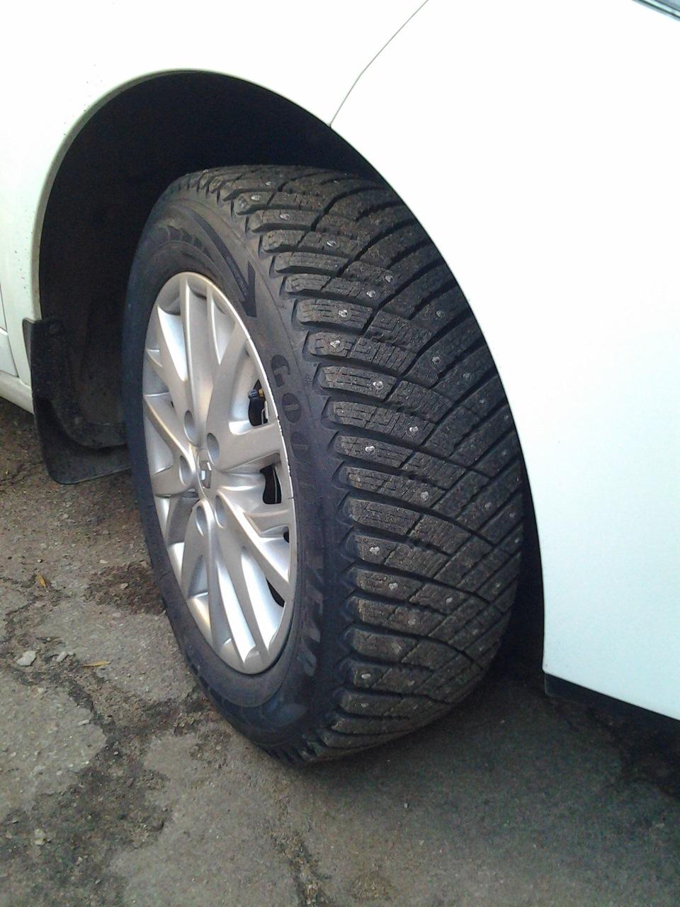 Goodyear Ultra Grip Ice >> Goodyear UltraGrip Ice Arctic — бортжурнал Renault Fluence БЕЛОСНЕЖНАЯ ФЛЮША 2013 года на DRIVE2