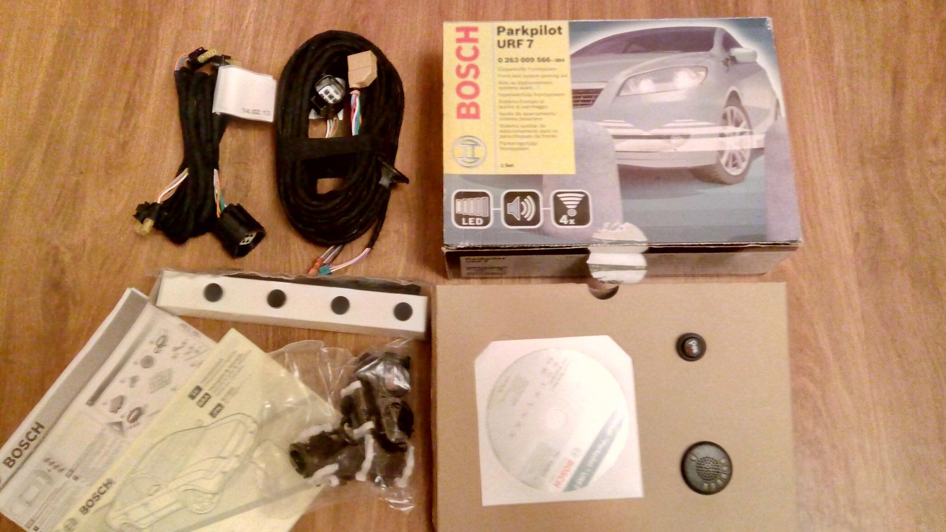 bosch parkpilot urf 7 front rear new toy logbook. Black Bedroom Furniture Sets. Home Design Ideas