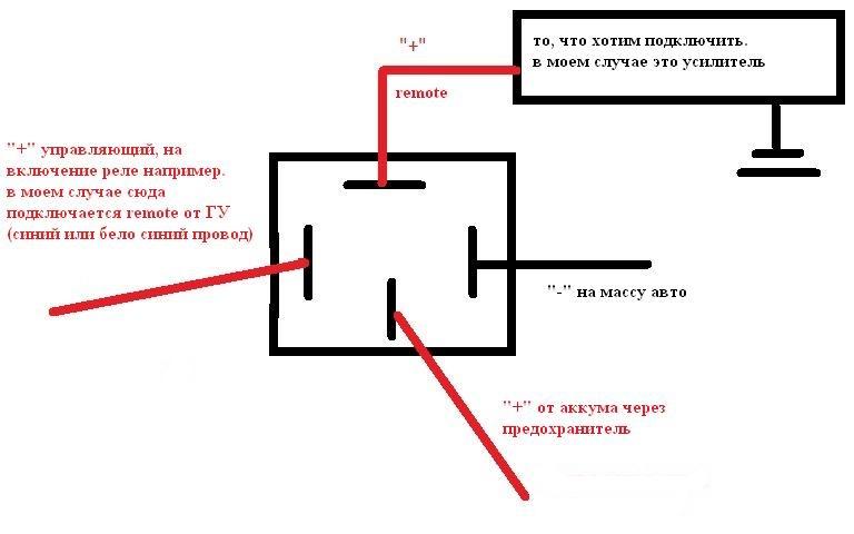 Четырехконтактное реле схема подключения принцип работы