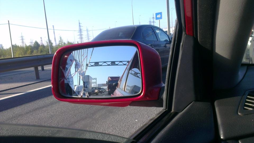 mitsubishi outlander 2003 замена зеркала