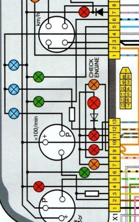 панель приборов 2110 (фрагмент
