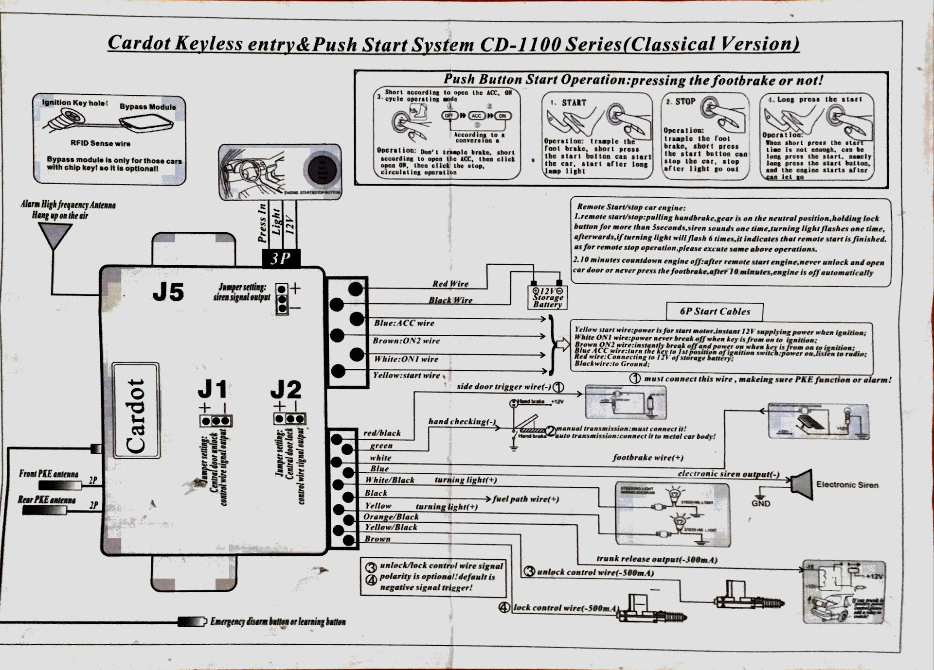 Схема подключения кнопки старт стоп на русском фото 471