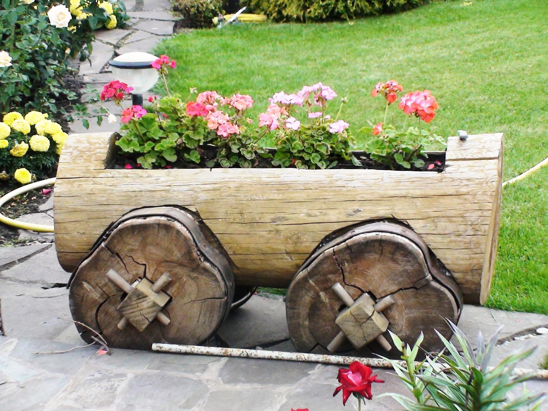Как своими руками сделать телегу в сад 347