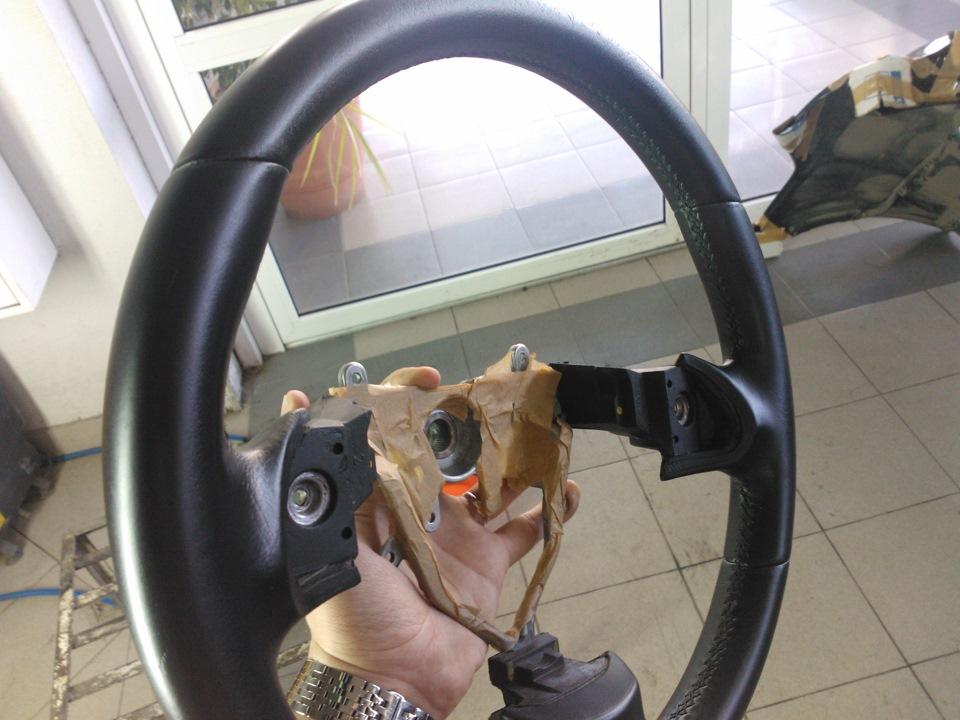 Покрасить кожаный руль