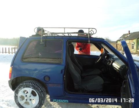 Багажник на крышу оки своими руками