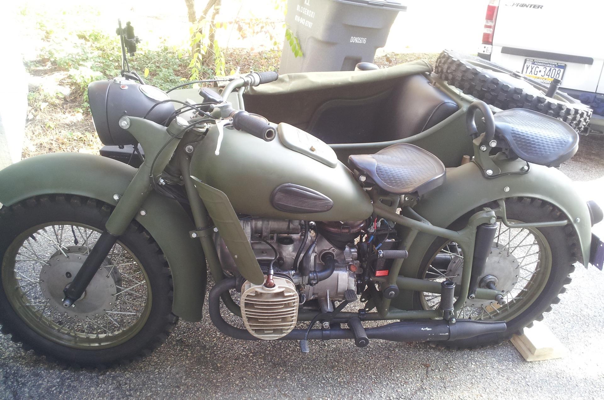 Мотоцикл Урал военный с консервации