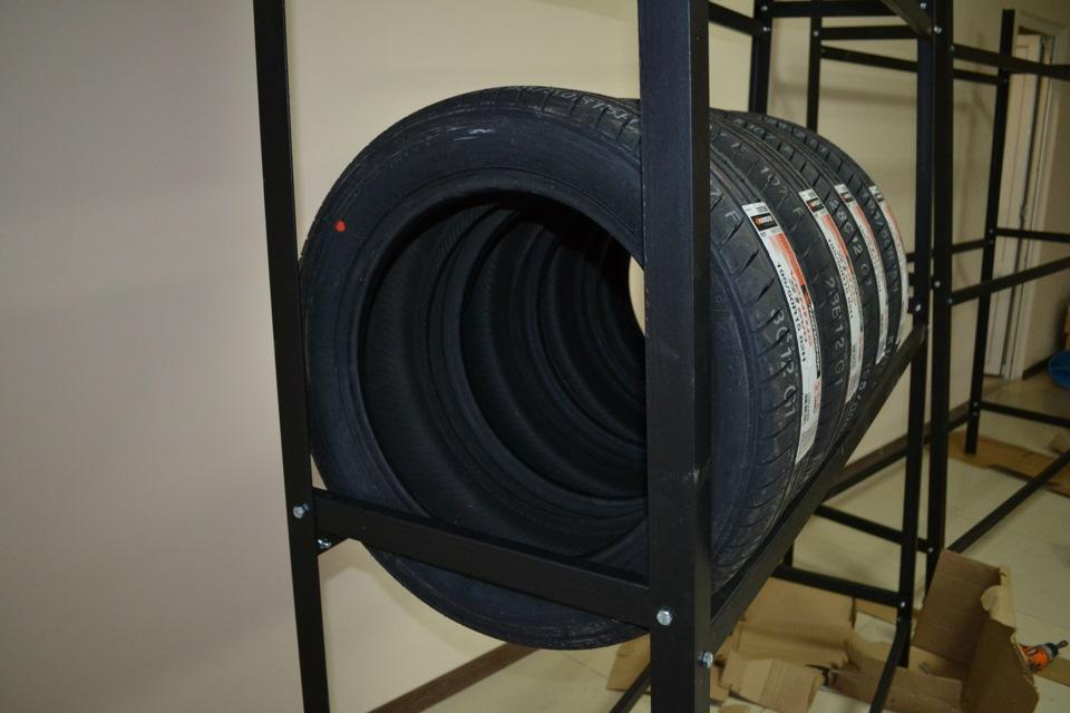Как сделать стеллаж для хранения шин своими руками 13