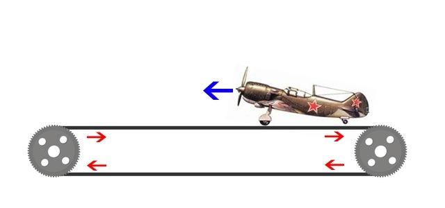 самолет на транспортере не взлетит