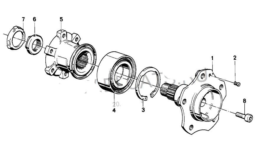 Ступица заднего колеса Е34