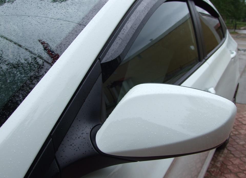 Накладки на зеркала  кузова солярис