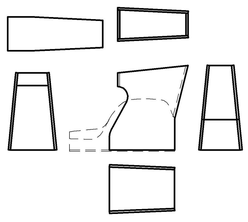 Как сделать подлокотник на калину чертеж
