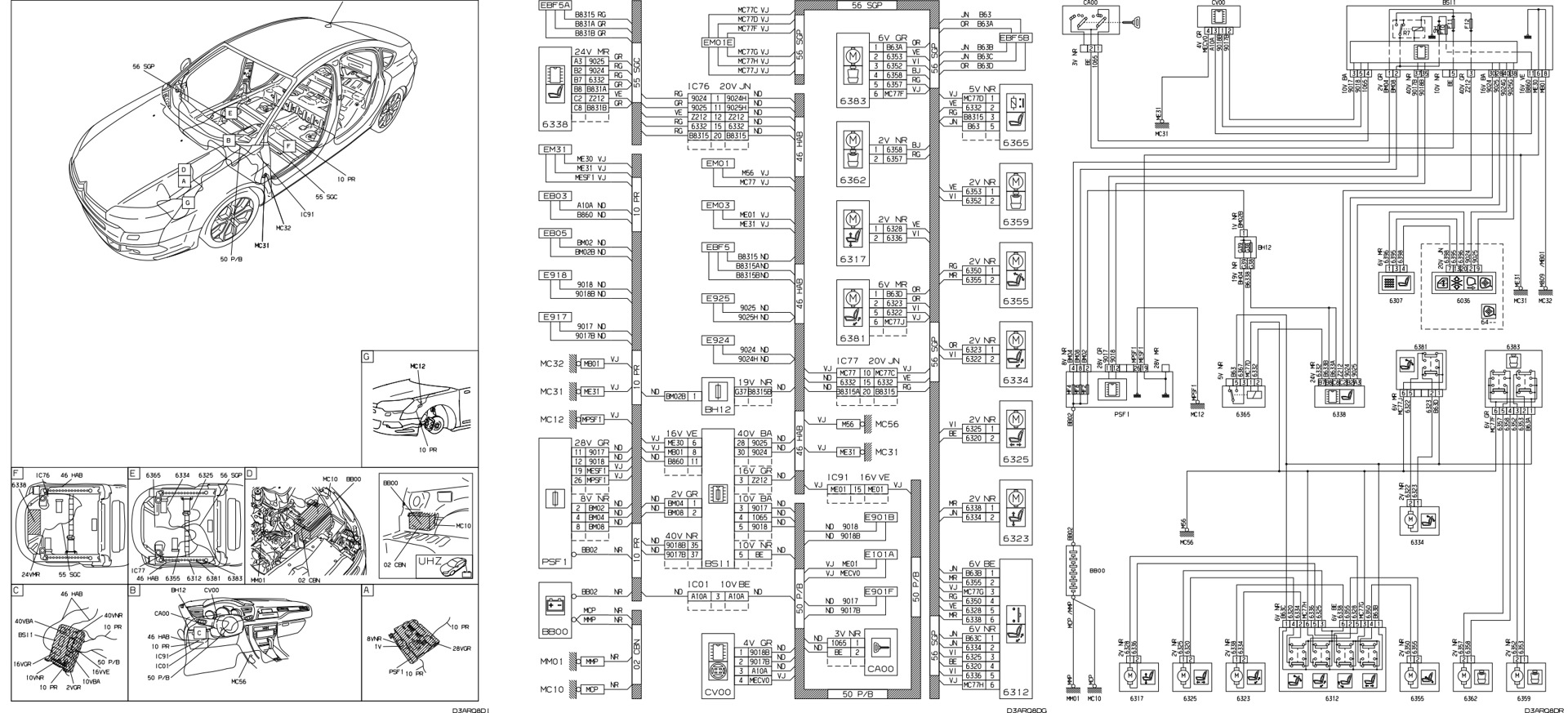 citroen c5 electrical wiring diagram