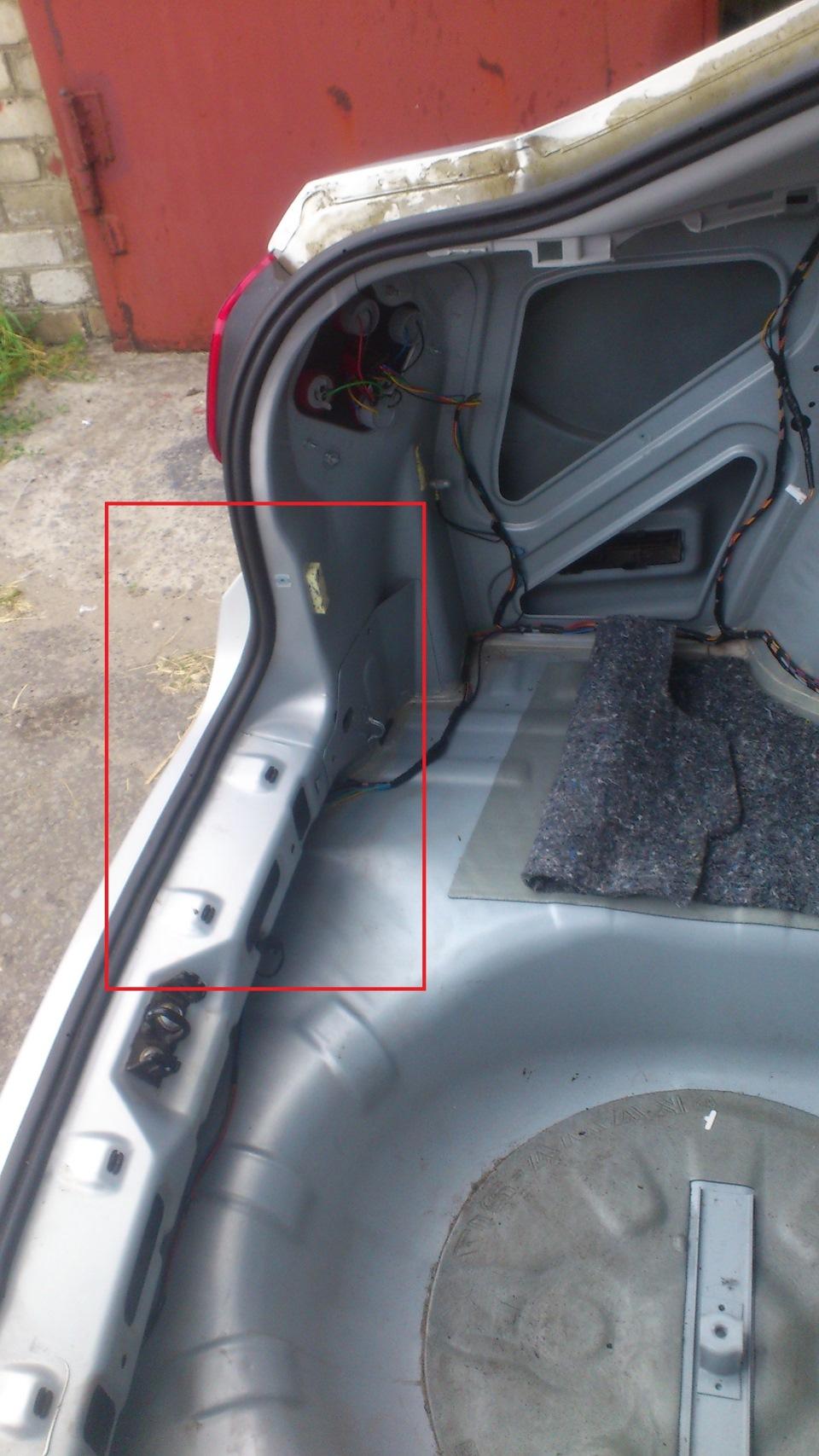 Герметизация багажника лада гранта своими руками