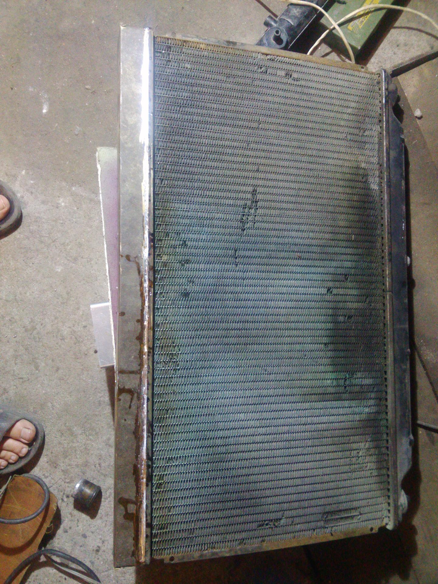 как паять пластмассу на радиаторе honda accord
