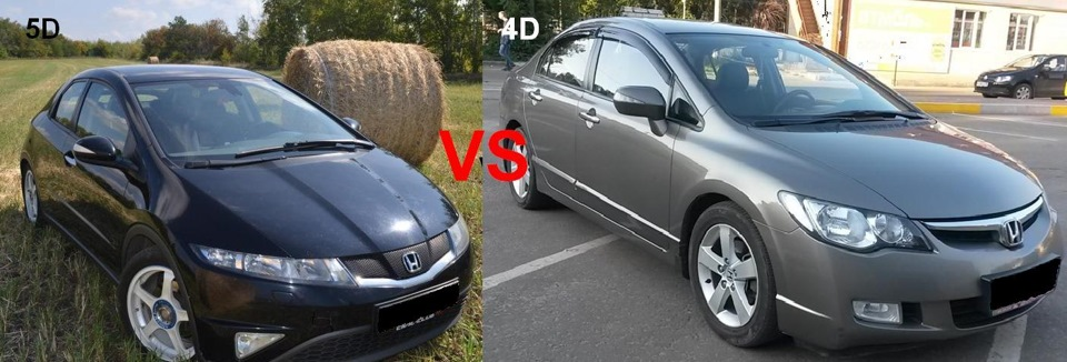 honda civic 4d viii сравнение