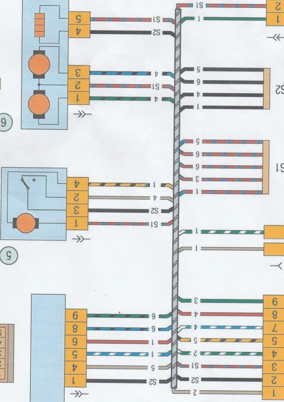 схема проводов на водительскую дверь на лада приора