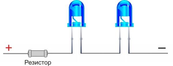 Подключение одного светодиода