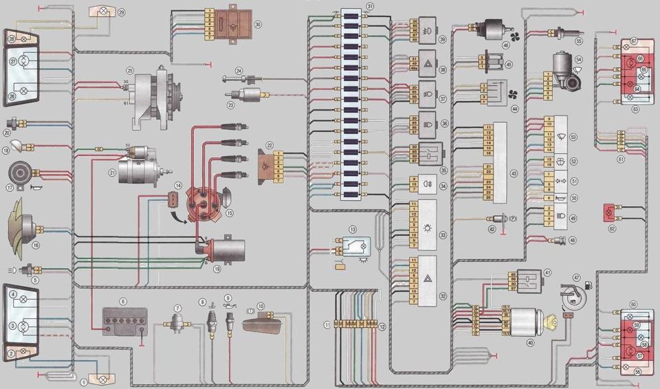 Проводка таврия 1102 схема 756