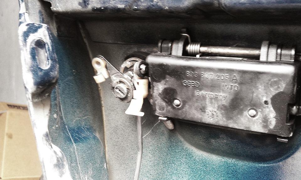 ремонт замка водительской двери audi 80 b4