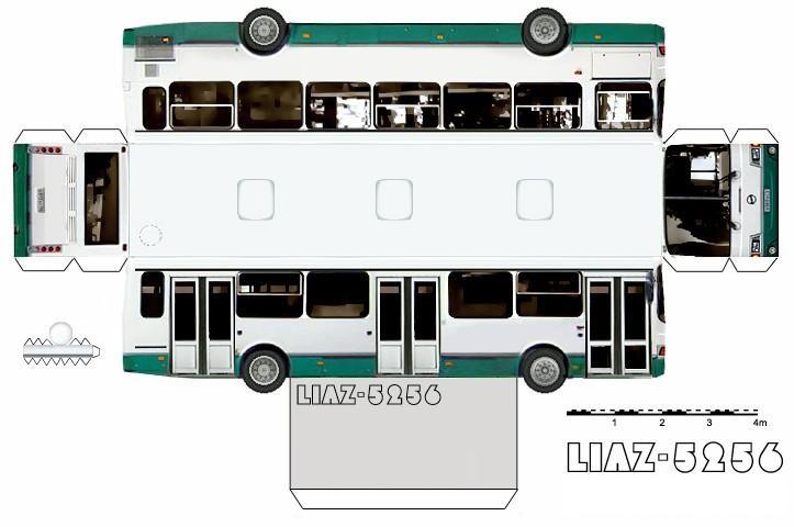 Автобусы из картона своими руками