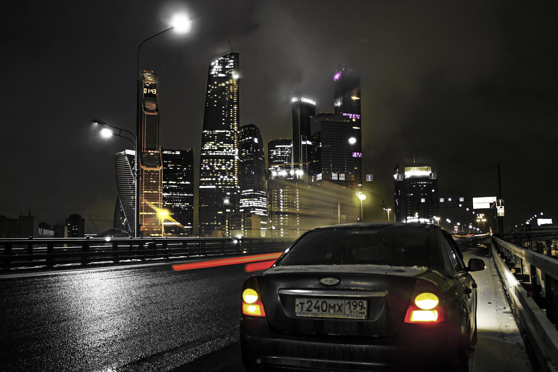 гамма фото ночного города с машины если нет вариантов
