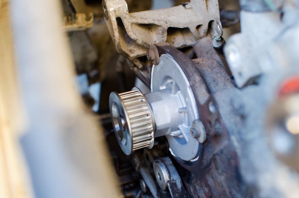 chevrolet lanos помпа замена s15 двигатель