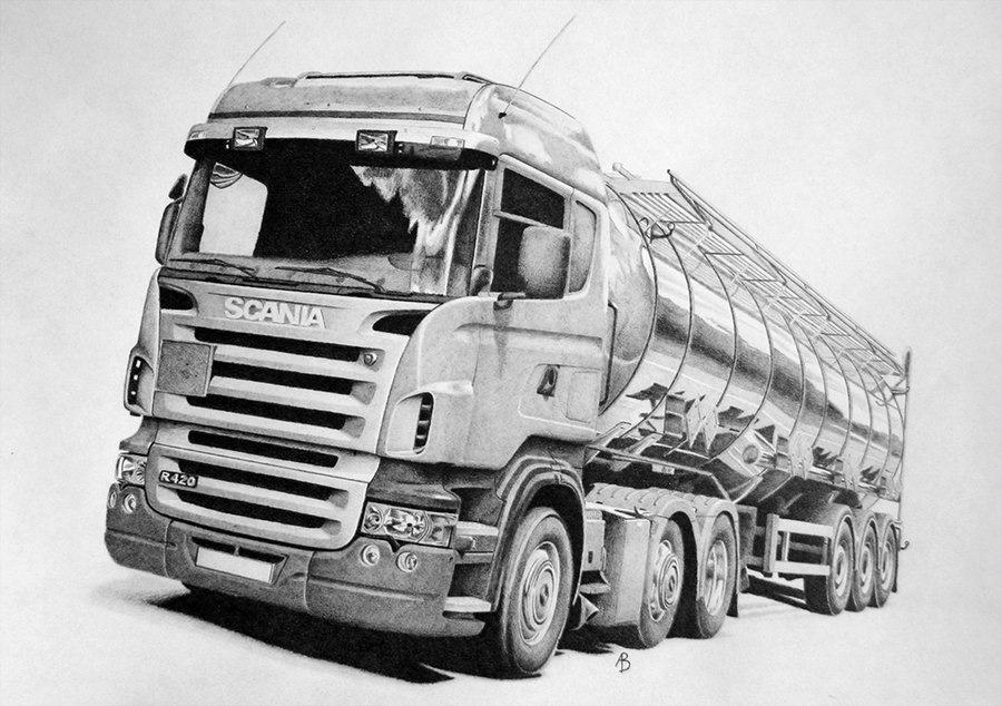 рисунки грузовиков камаз свадебные