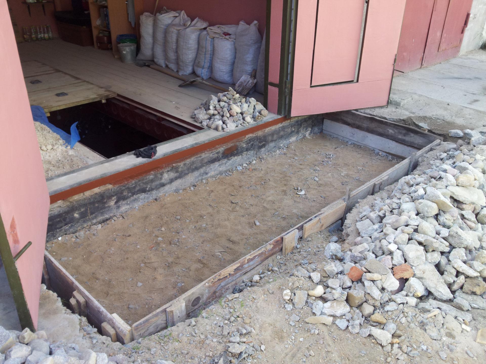 Бетон перед гаражом заказать бетон в бетононасосом