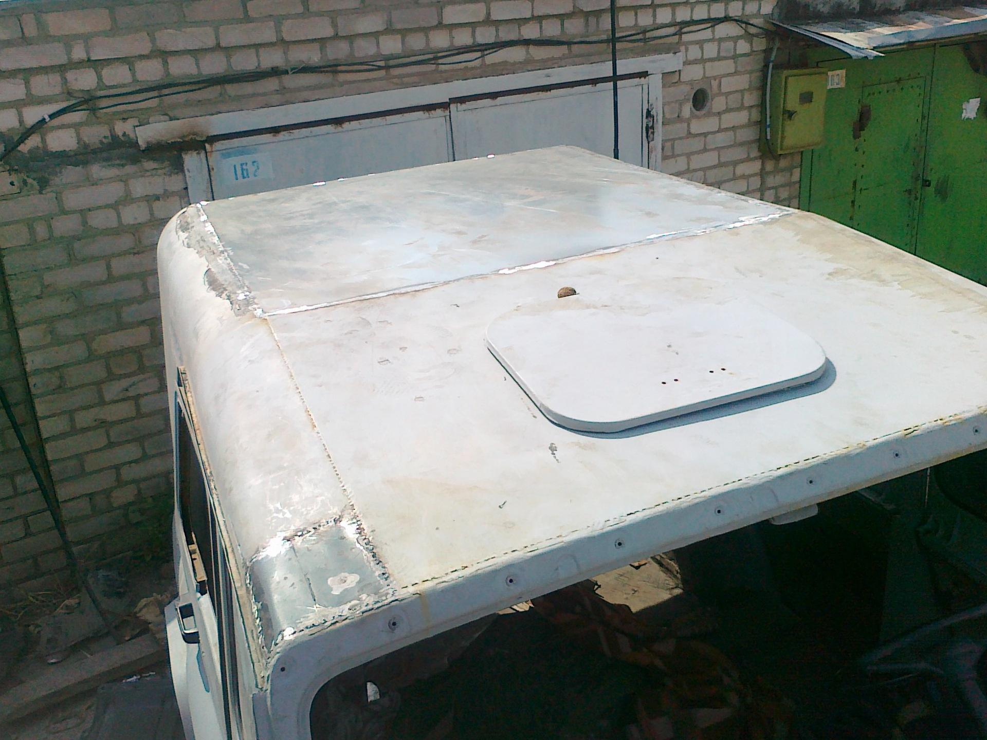Крыша УАЗ 469 железная в сборе