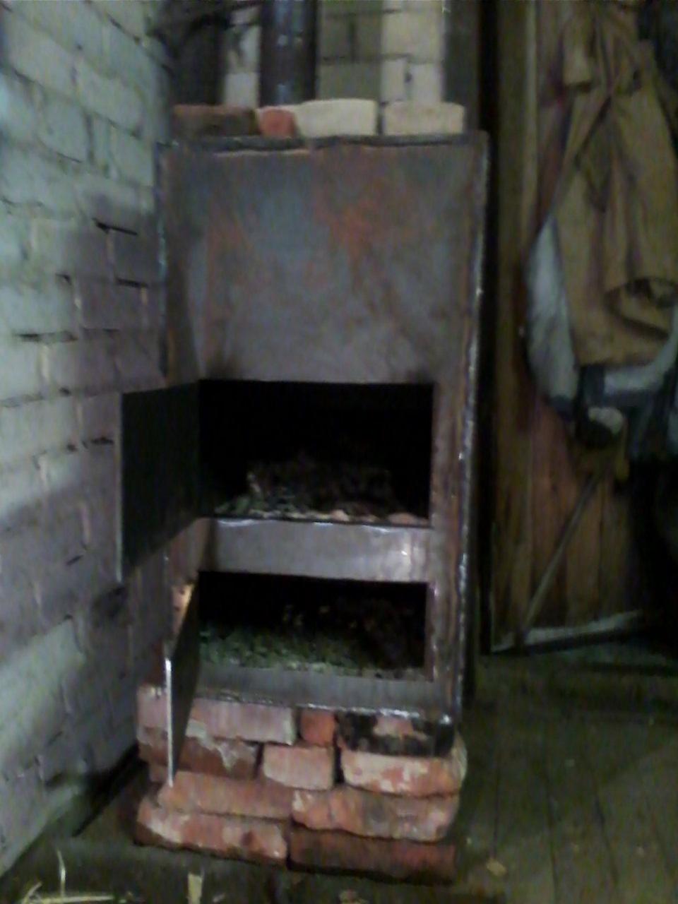 Кирпичная печь в гараж на дровах своими руками