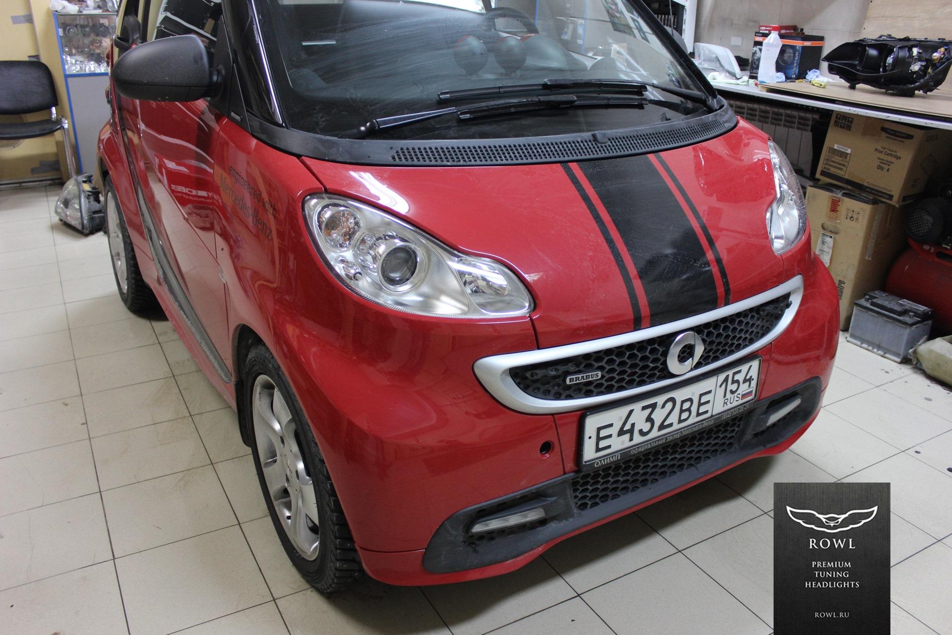 Автомобиль Smart Fortwo 2 поколения в тюнинге Brabus Оптика   Оригинал Тип    Не разборные (Полиуретан) cecde64e1ff