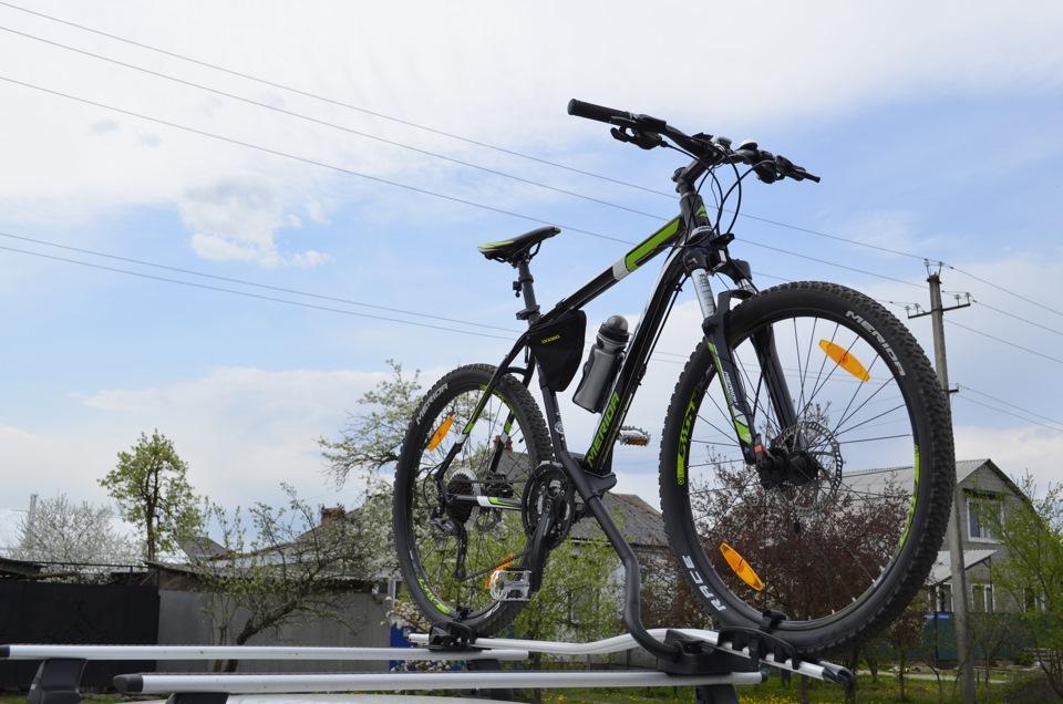 Крепление для велосипеда на машину на крышу 20
