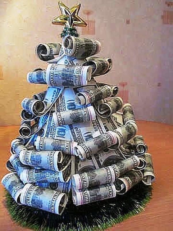 Как сделать елочку из денег