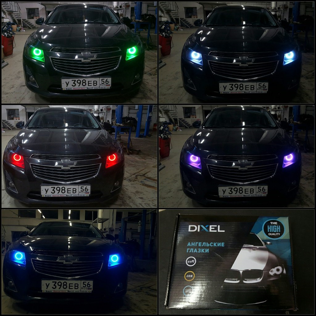 Установка ксеноновой светотехники на автомобиль Шевроле Круз