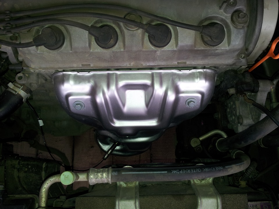 Замена масла в двигателе qashqai