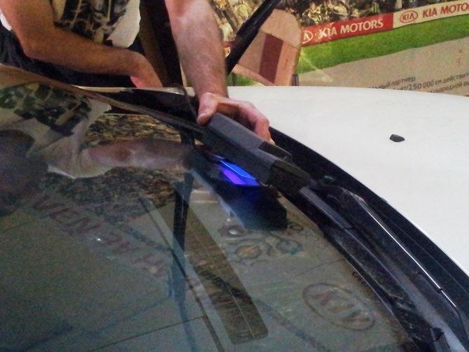 Мелкие сколы на лобовом стекле ремонт своими руками 44