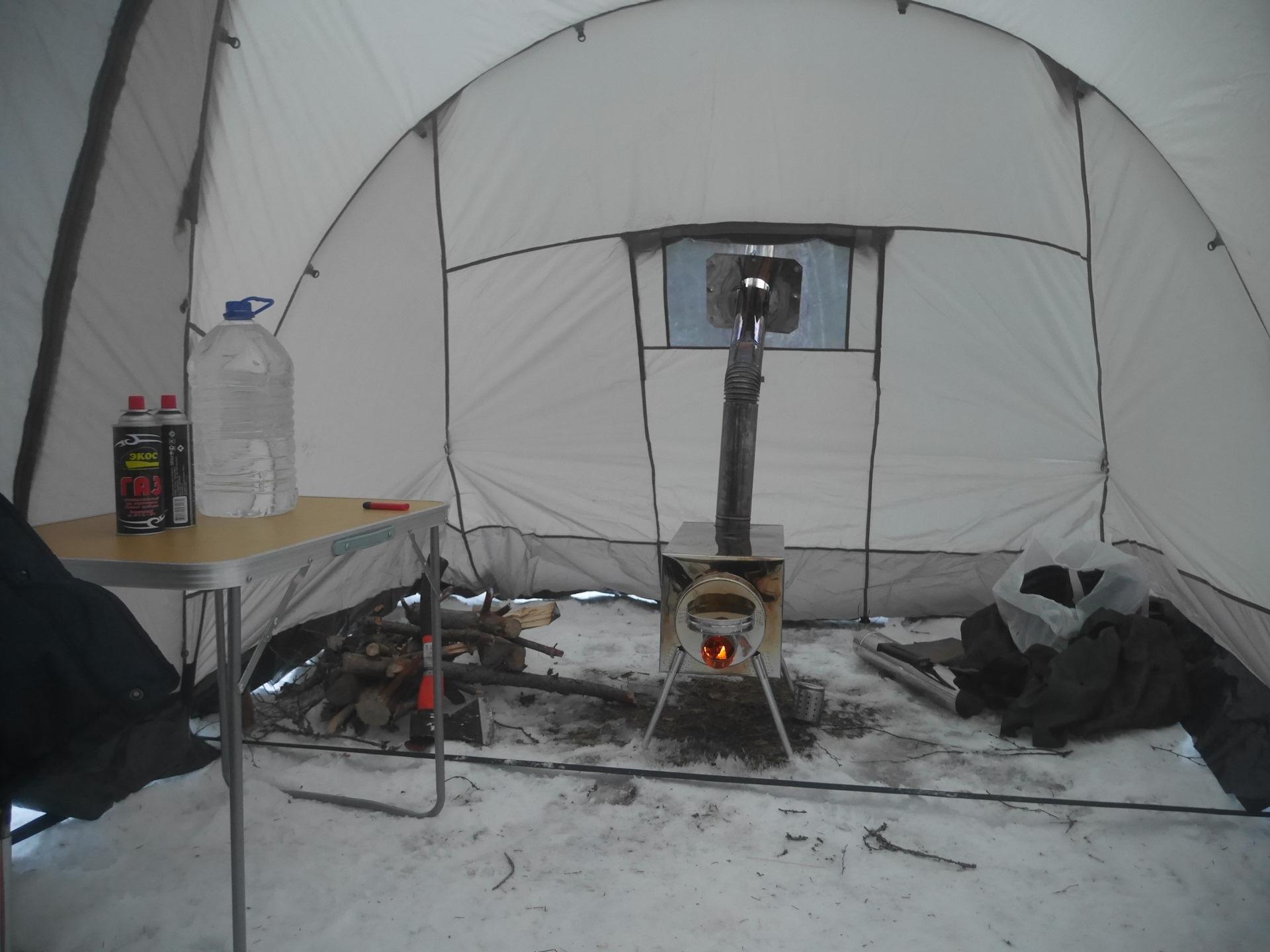 Печка для зимней палатки