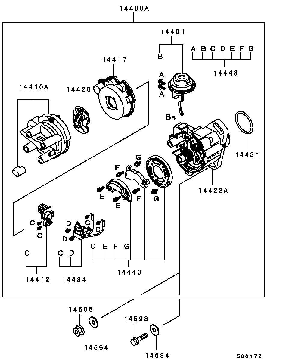принцип сборке трамблера митсубиси 4g93